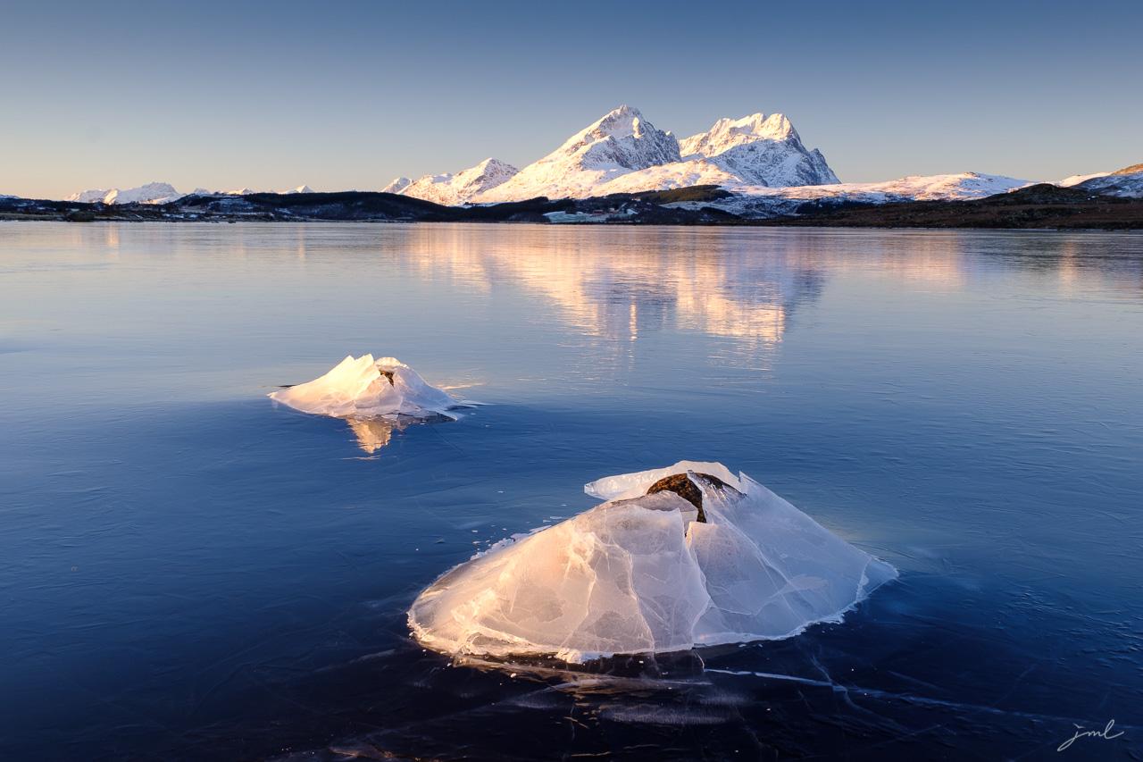 Paysages hivernal des iles Lofoten – Lofoten islands landscape